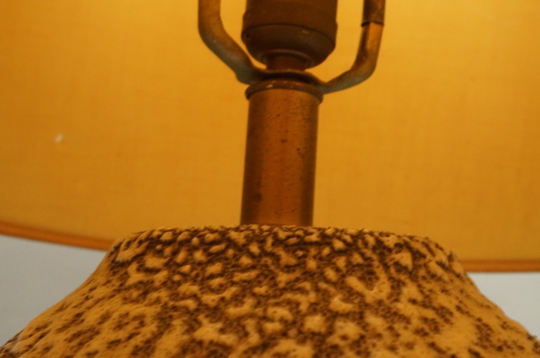 Lava Glazed Pottery Modern Table Lamp. Not marked - 6