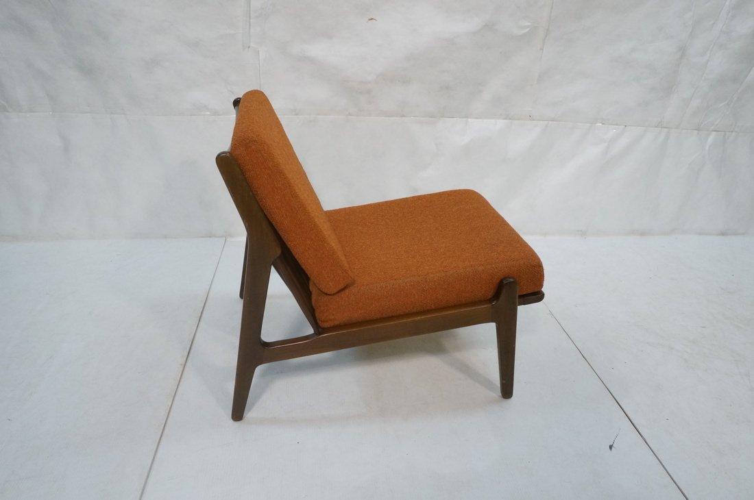 American Modern Lounge Chair. Burnt Orange Fabric - 2