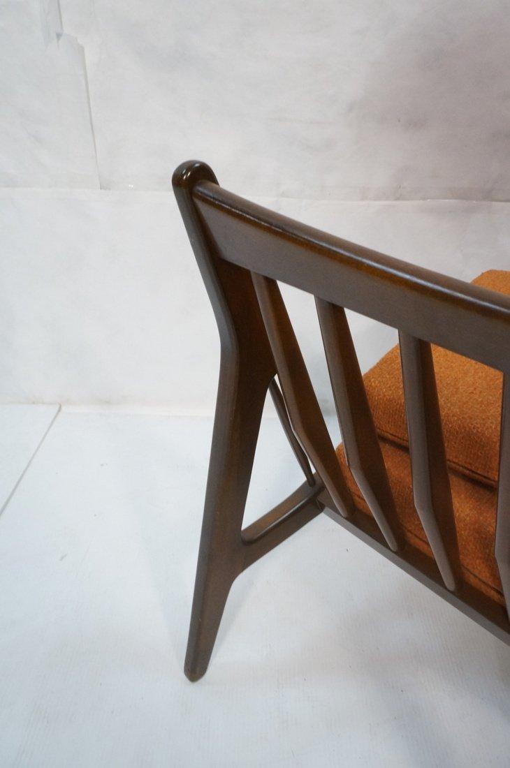 American Modern Lounge Chair. Burnt Orange Fabric - 4