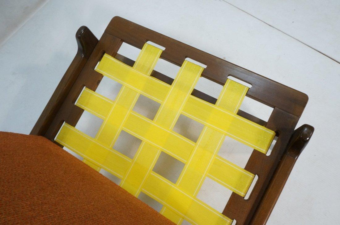 American Modern Lounge Chair. Burnt Orange Fabric - 5