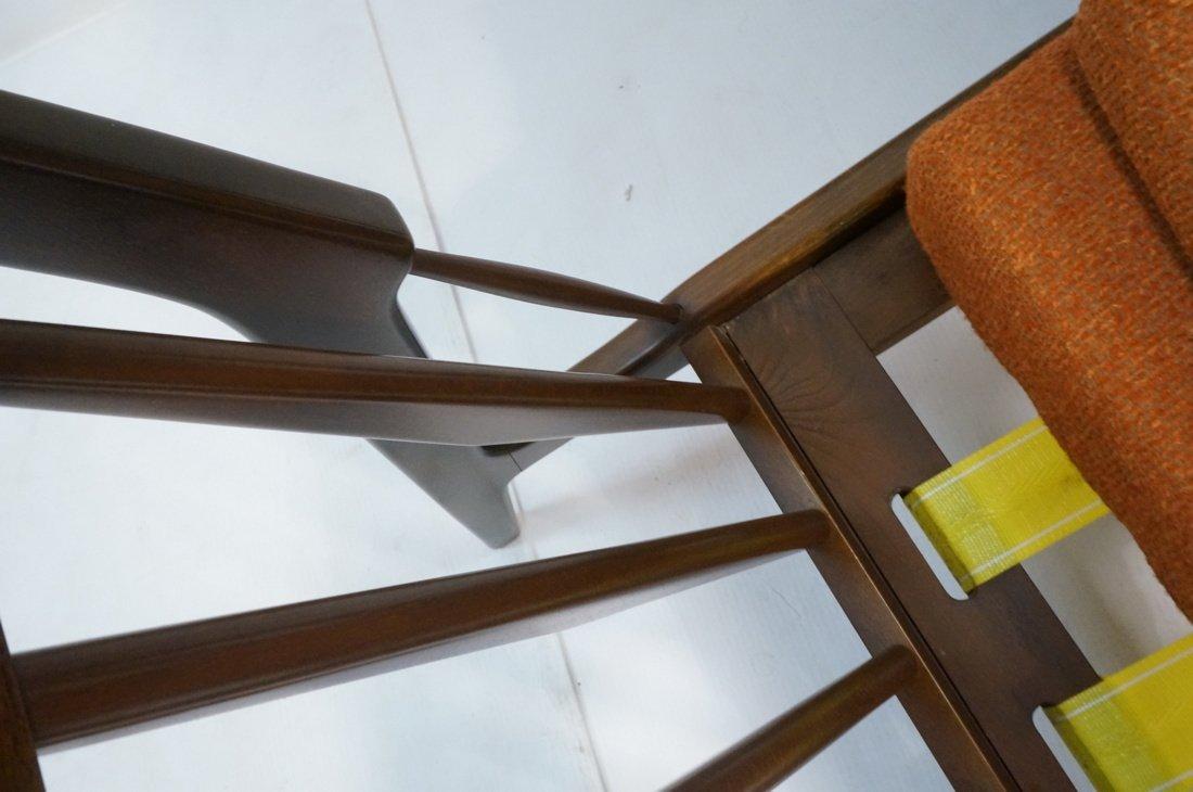 American Modern Lounge Chair. Burnt Orange Fabric - 6
