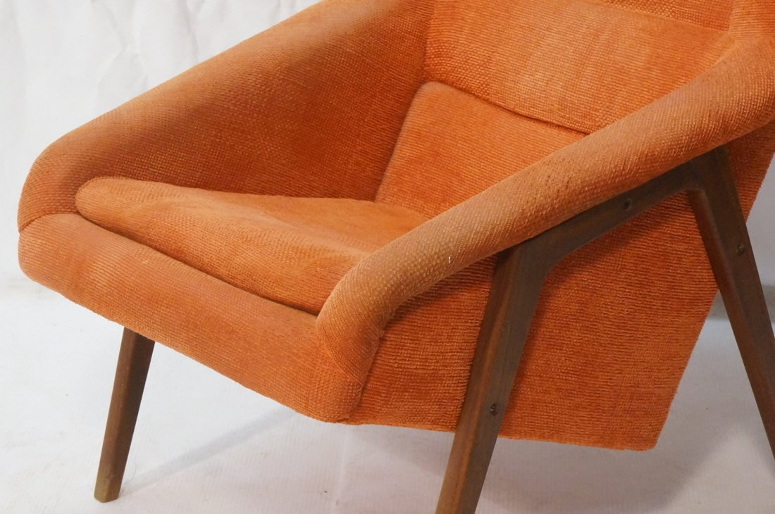 Modernist American Walnut Arm Lounge Chair. Rich - 3