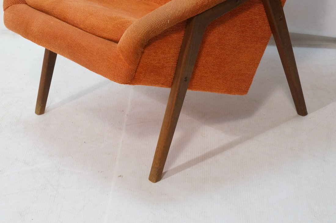 Modernist American Walnut Arm Lounge Chair. Rich - 4