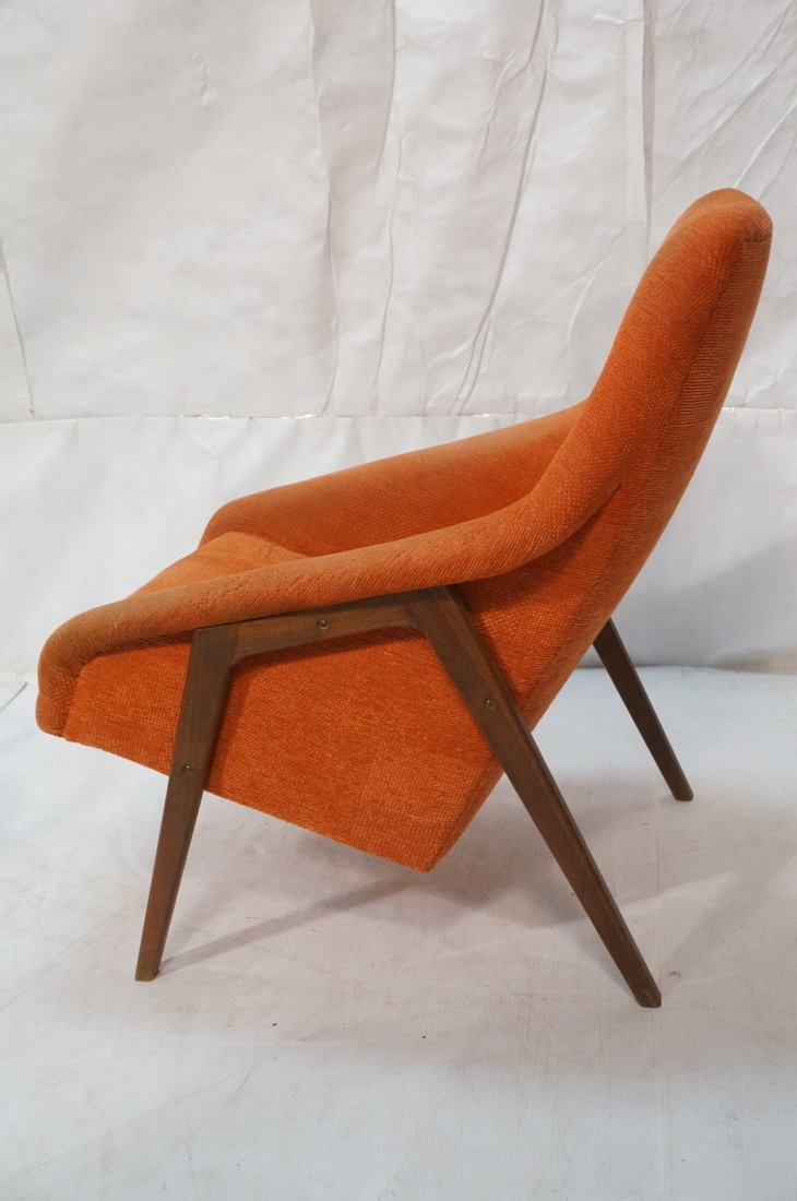 Modernist American Walnut Arm Lounge Chair. Rich - 5