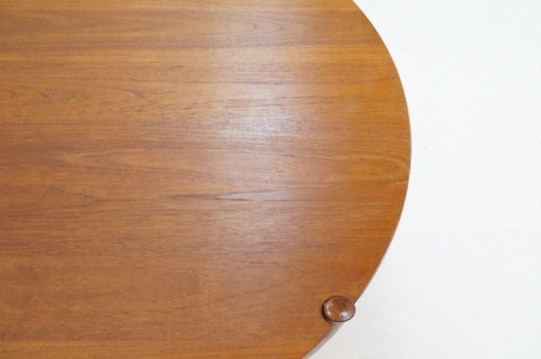 Round Walnut JOHN STUART Coffee Table. Shaped woo - 4