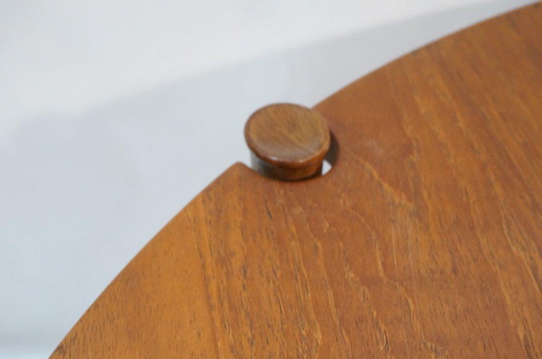Round Walnut JOHN STUART Coffee Table. Shaped woo - 5