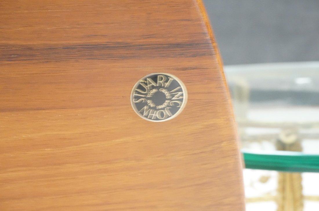 Round Walnut JOHN STUART Coffee Table. Shaped woo - 7