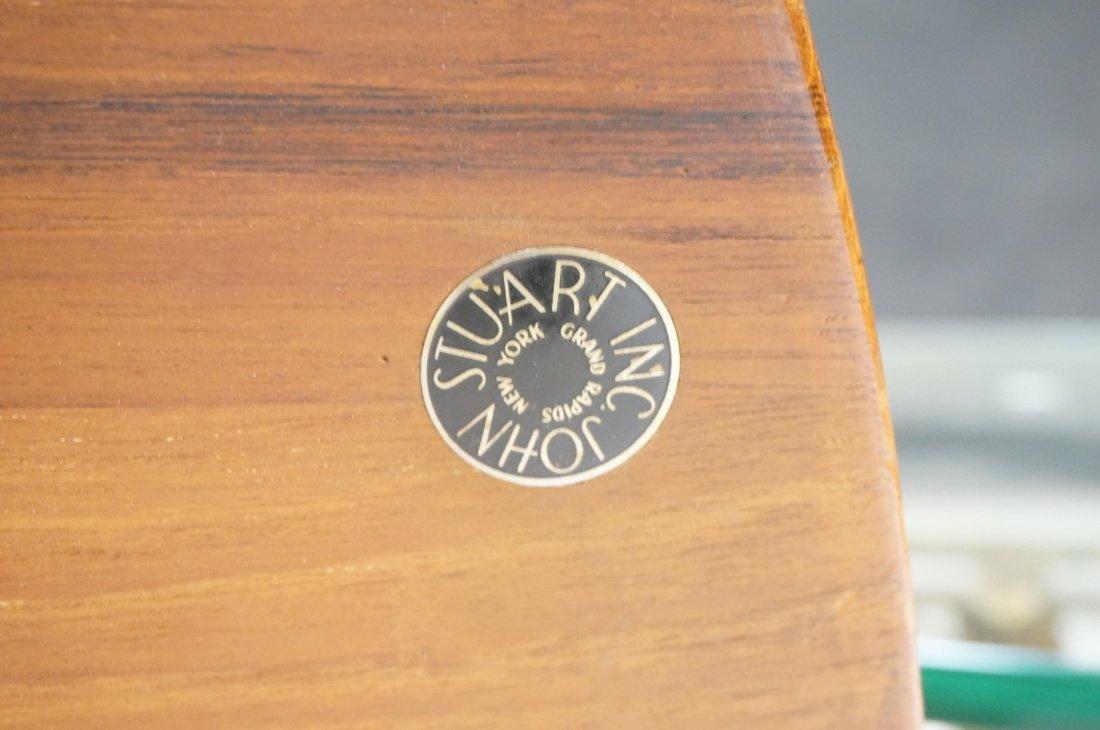 Round Walnut JOHN STUART Coffee Table. Shaped woo - 8