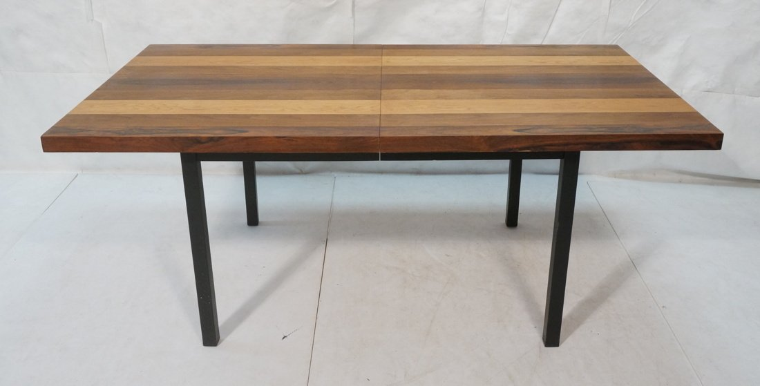 Butcher Block Dining Table. Some wood bands are r