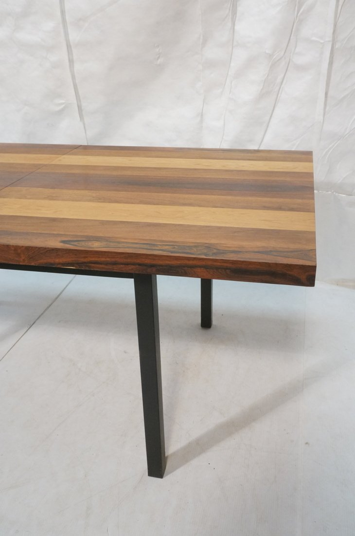 Butcher Block Dining Table. Some wood bands are r - 3