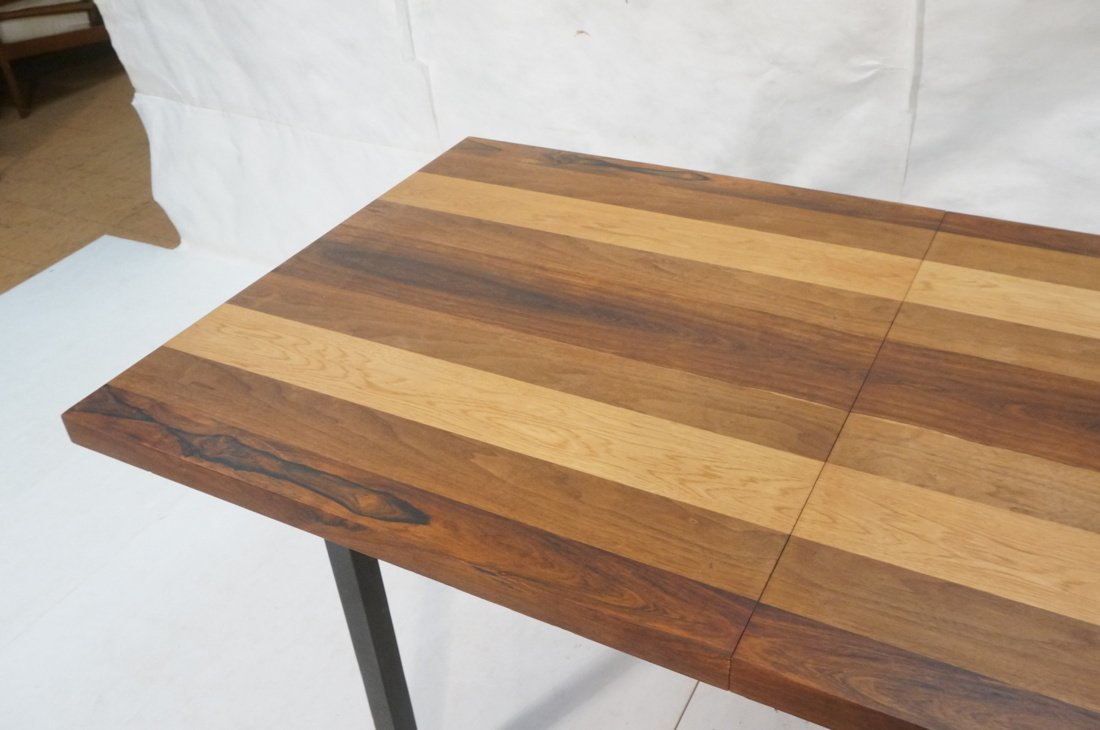 Butcher Block Dining Table. Some wood bands are r - 4