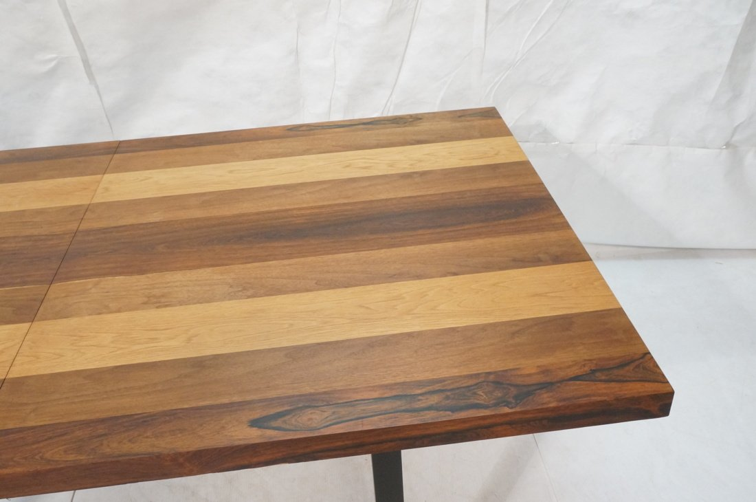 Butcher Block Dining Table. Some wood bands are r - 5
