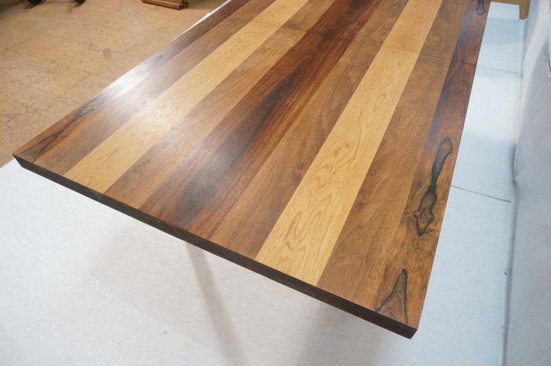 Butcher Block Dining Table. Some wood bands are r - 8