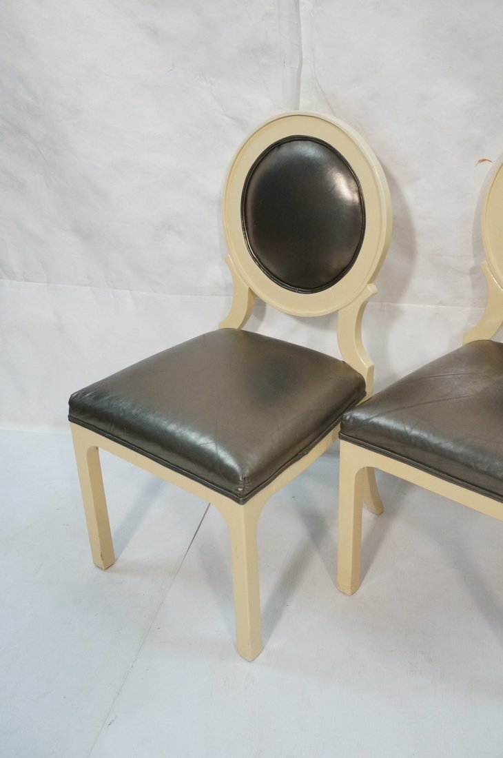 Set 4 Decorator Dining Chairs. Cream lacquer fram - 2