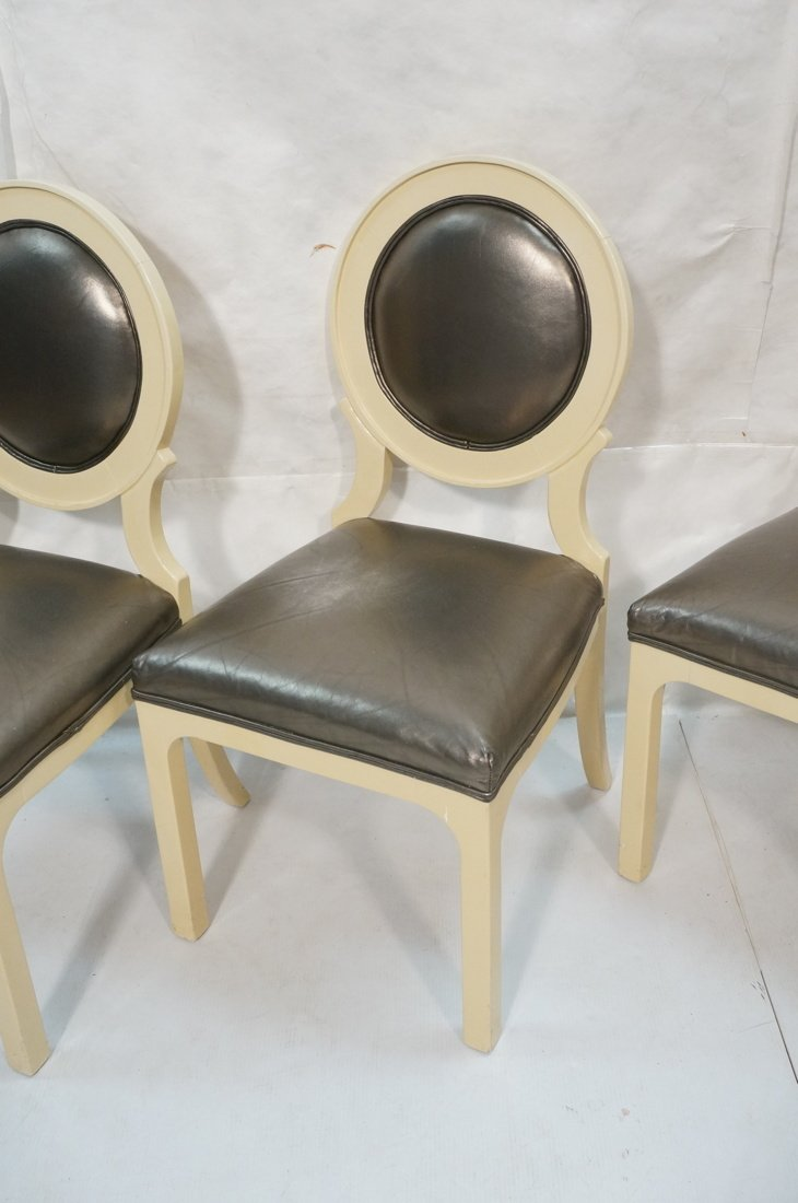 Set 4 Decorator Dining Chairs. Cream lacquer fram - 3