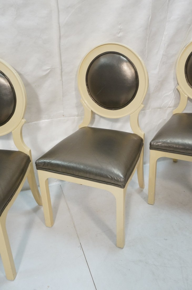 Set 4 Decorator Dining Chairs. Cream lacquer fram - 4