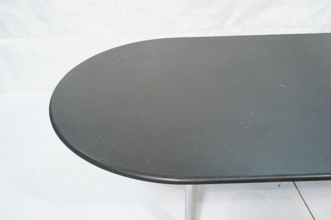 KNOLL Black Granite Oblong Dining Table. Chrome L - 3