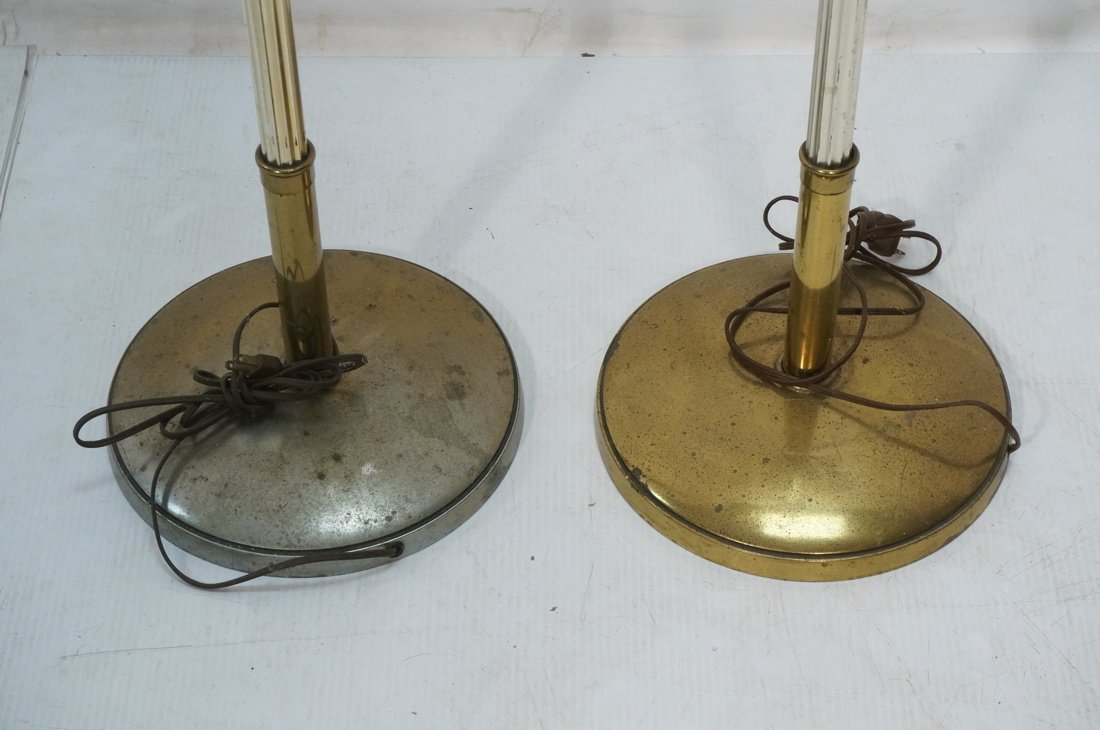 Pr STIFFEL Brass tone Floor Lamps. Torchieres. - 3