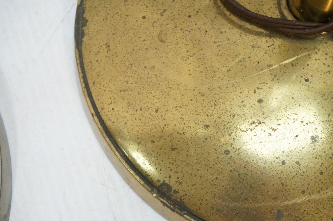 Pr STIFFEL Brass tone Floor Lamps. Torchieres. - 5