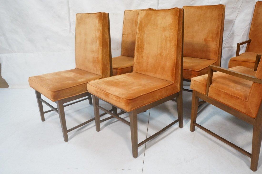 Set 6 Dunbar style Dining Chairs. Walnut frames a - 10