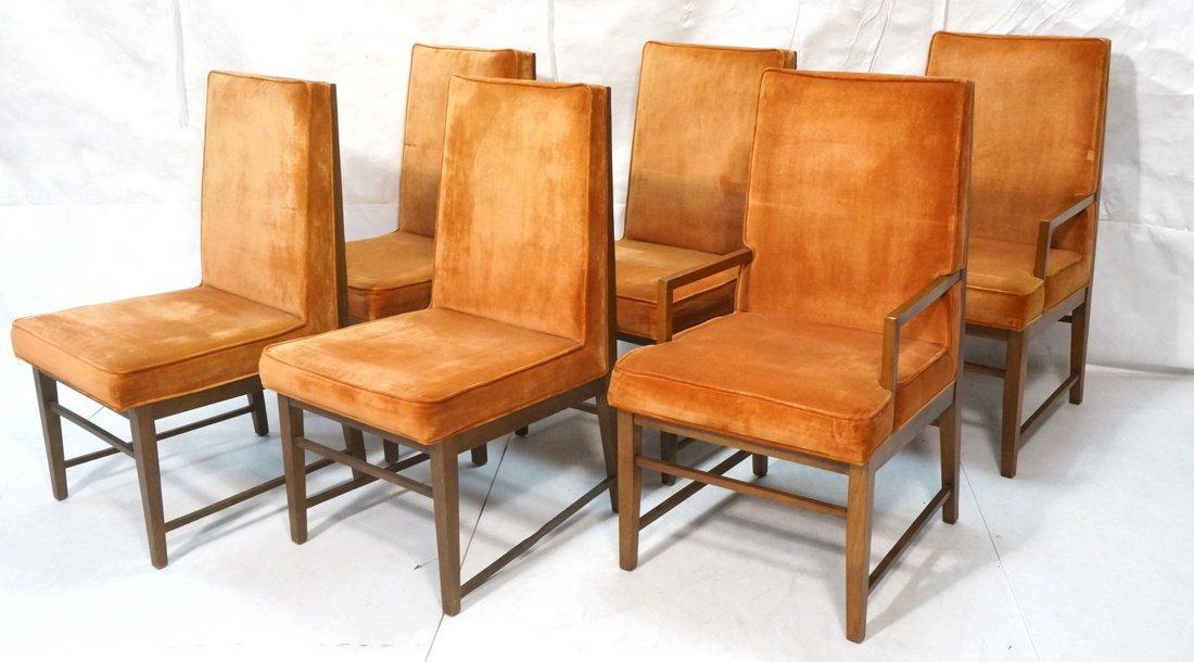 Set 6 Dunbar style Dining Chairs. Walnut frames a