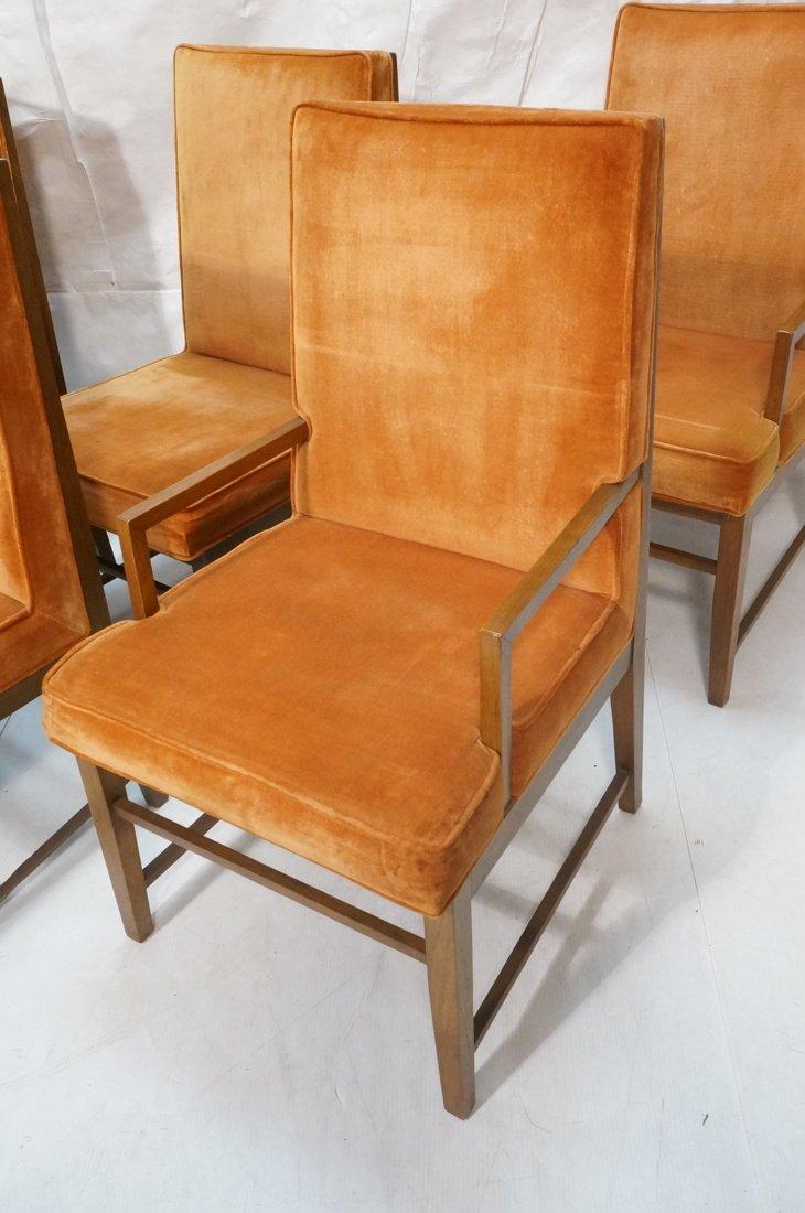 Set 6 Dunbar style Dining Chairs. Walnut frames a - 4