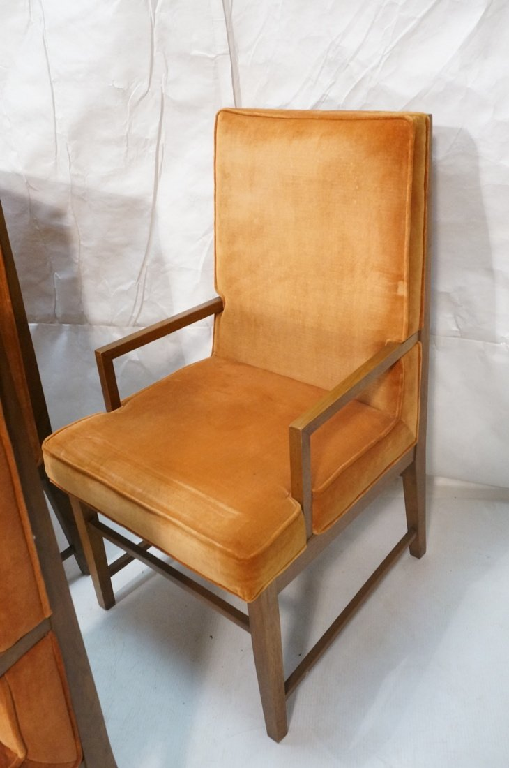 Set 6 Dunbar style Dining Chairs. Walnut frames a - 5