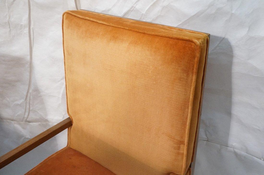 Set 6 Dunbar style Dining Chairs. Walnut frames a - 6