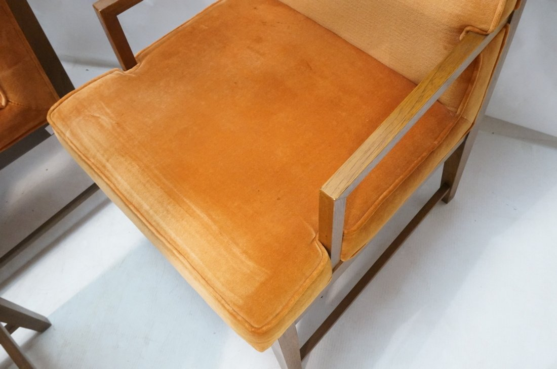 Set 6 Dunbar style Dining Chairs. Walnut frames a - 7