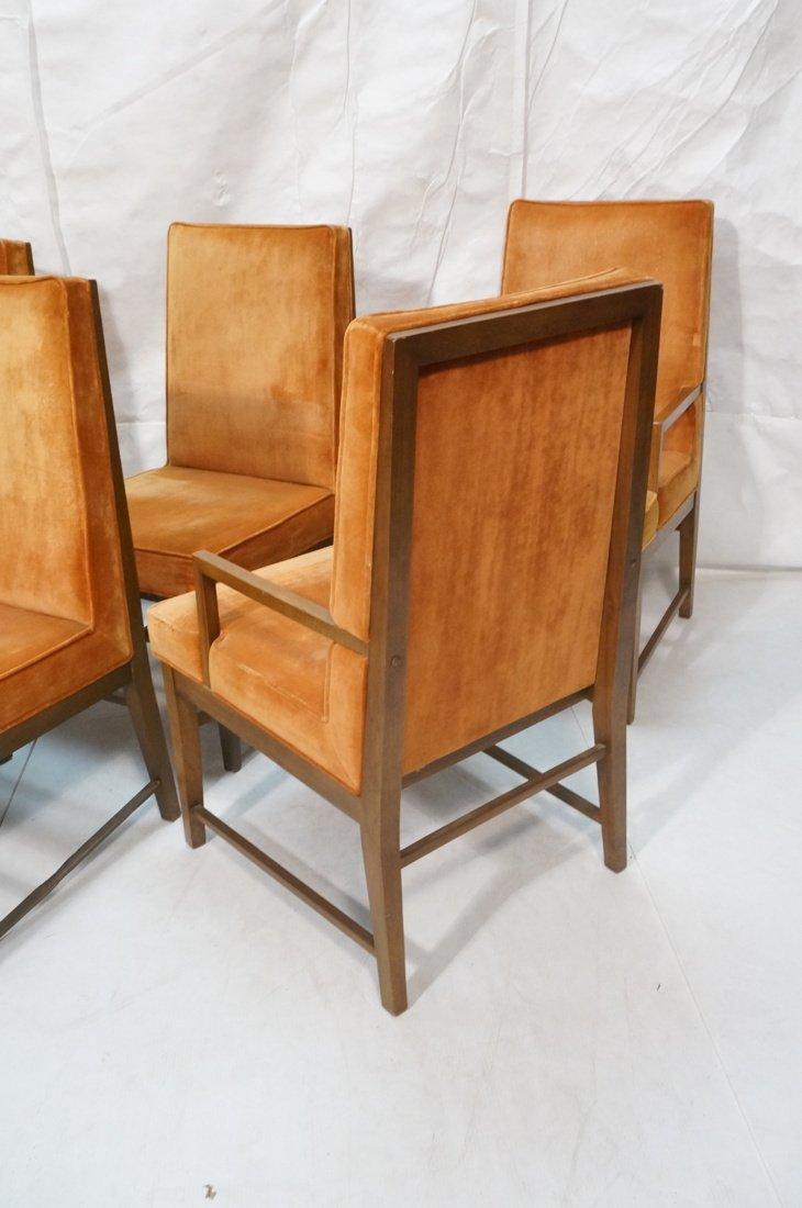Set 6 Dunbar style Dining Chairs. Walnut frames a - 8