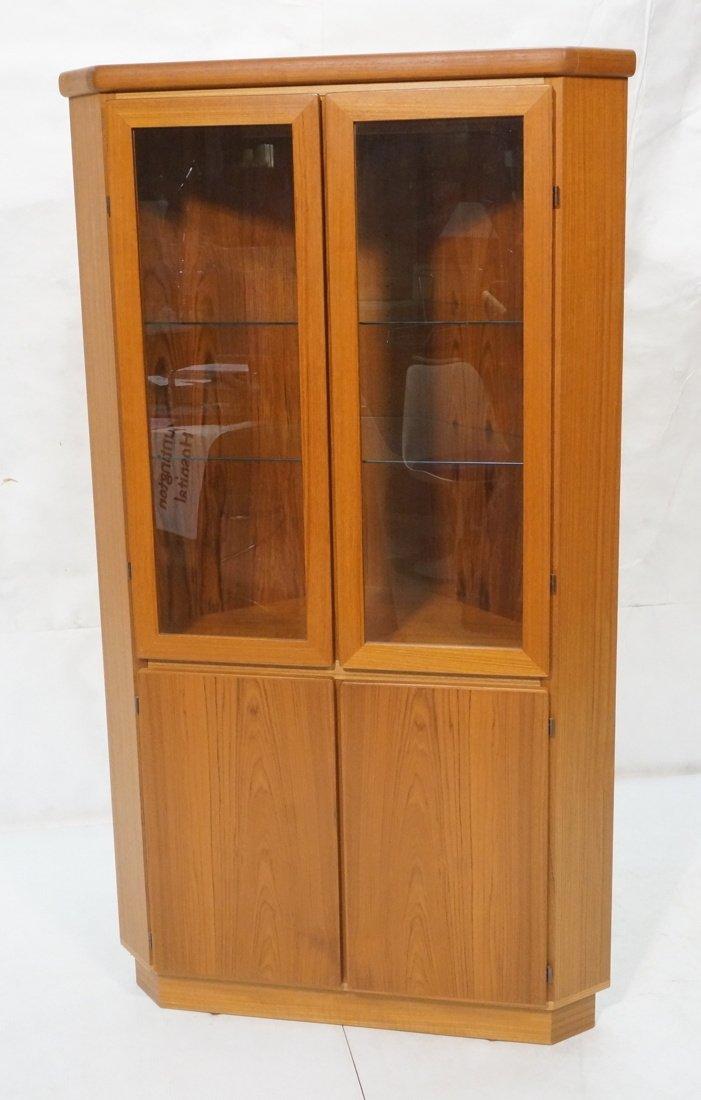 RASMUS Danish Teak Modern Corner Cabinet. Four Do