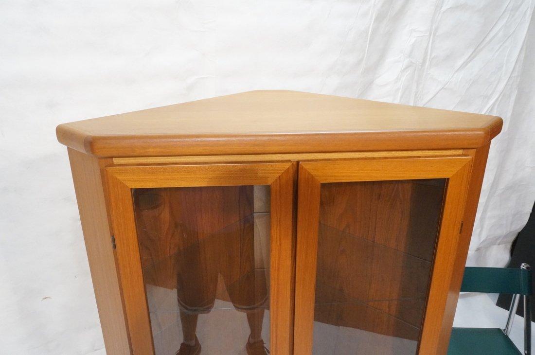 RASMUS Danish Teak Modern Corner Cabinet. Four Do - 4