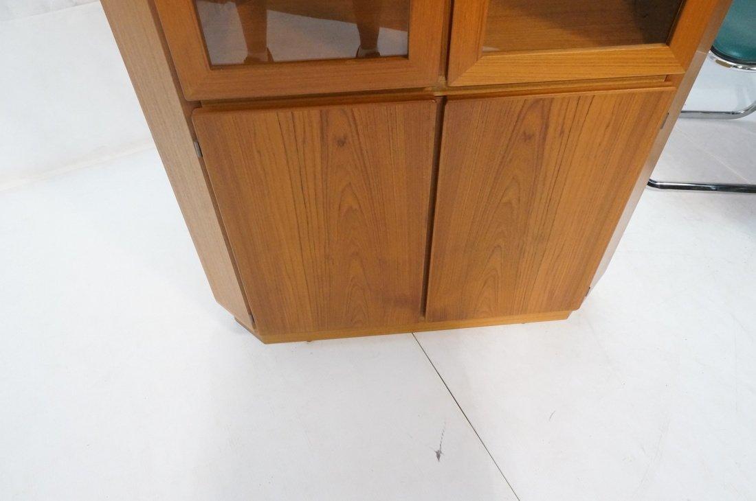RASMUS Danish Teak Modern Corner Cabinet. Four Do - 7