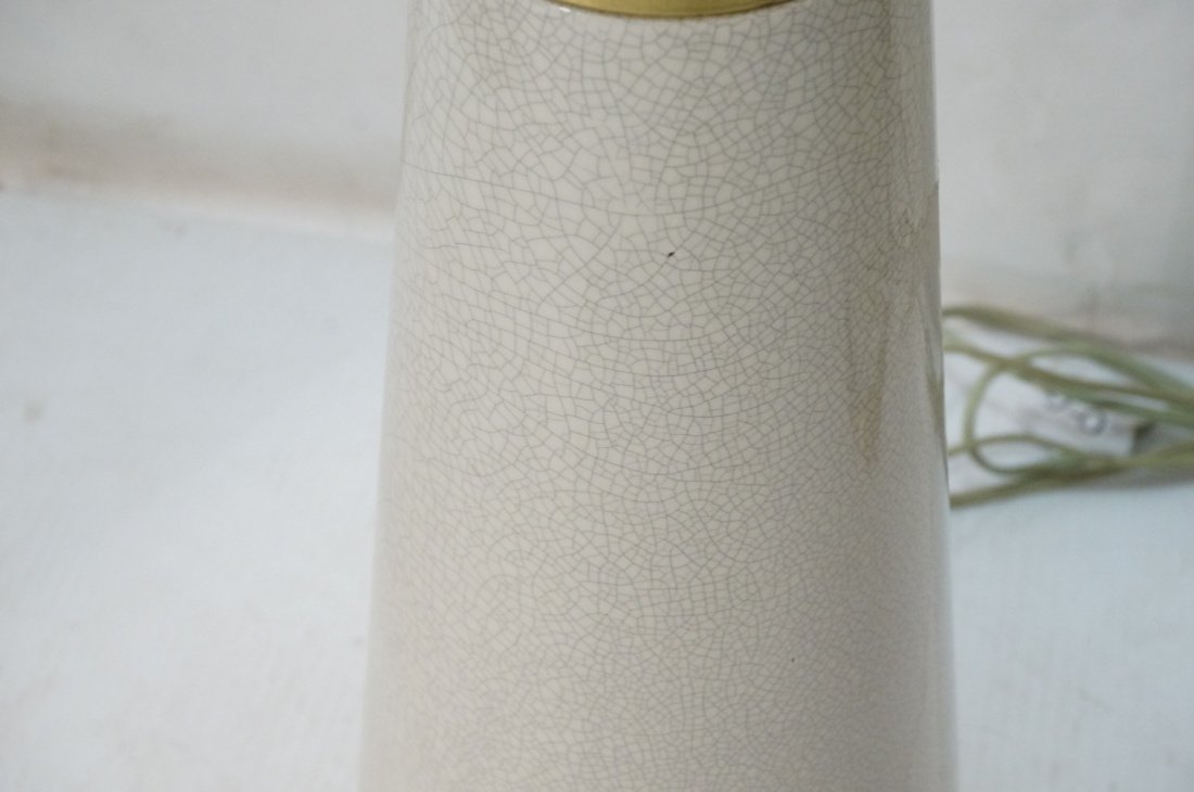 Pr Extra Tall Off White Ceramic Table Lamps. Mode - 5
