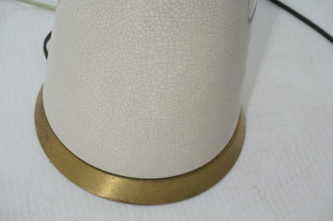 Pr Extra Tall Off White Ceramic Table Lamps. Mode - 7