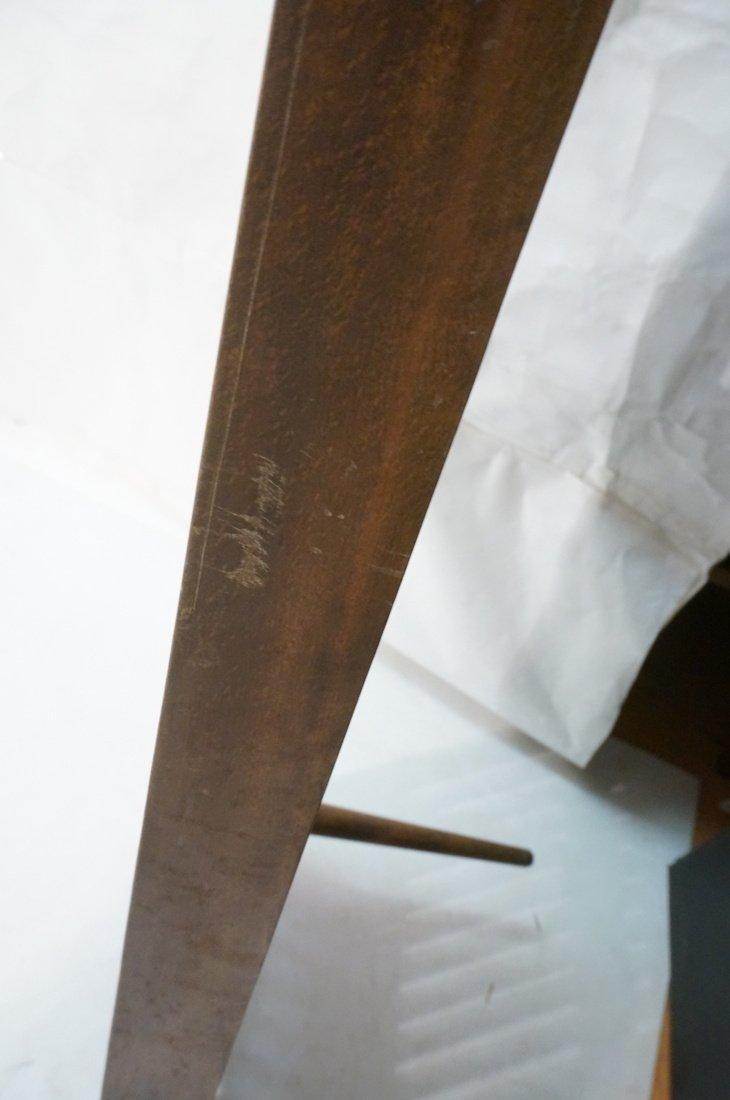 Dark wood Slat Bench Coffee Table. Modernist form - 10
