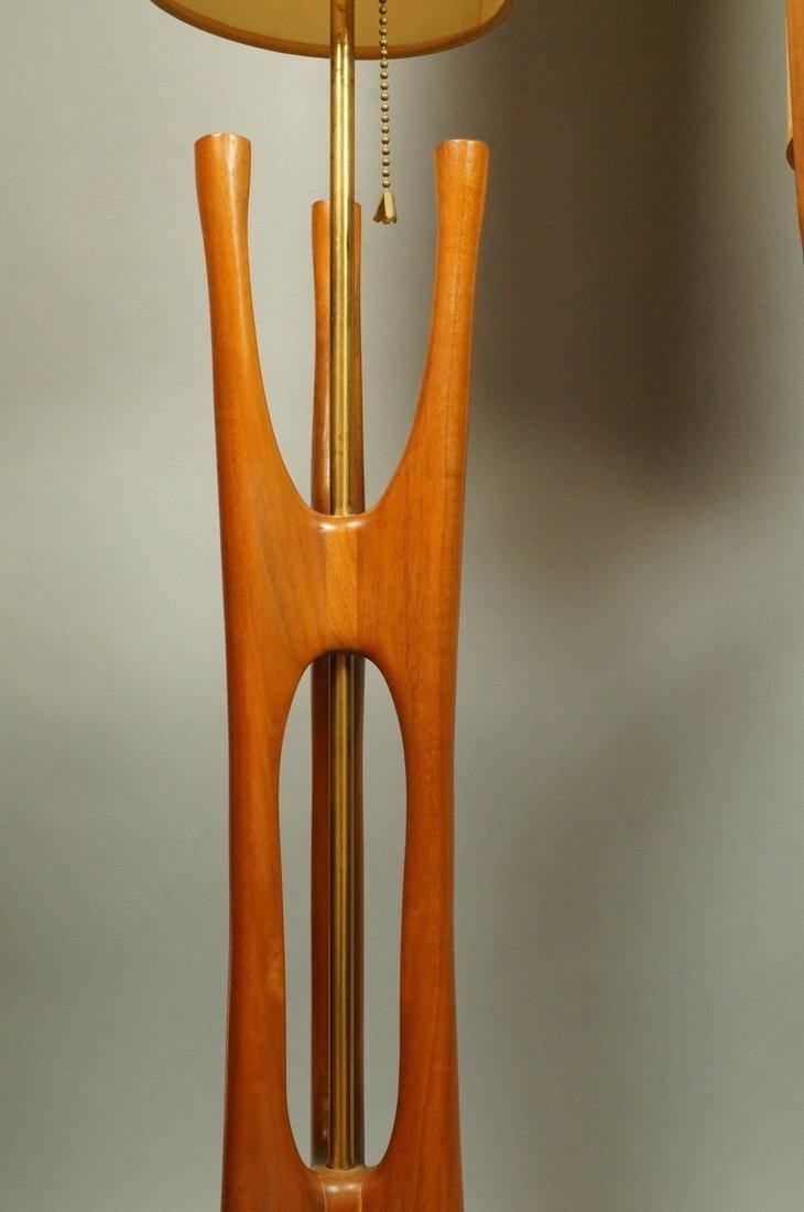 Lot Three American Walnut Table Lamps. Modernist - 2