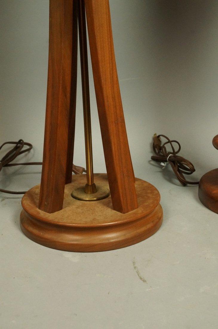 Lot Three American Walnut Table Lamps. Modernist - 4