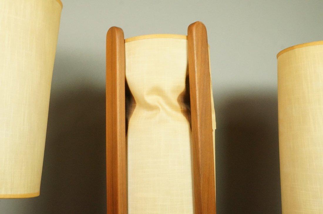 Lot Three American Walnut Table Lamps. Modernist - 6