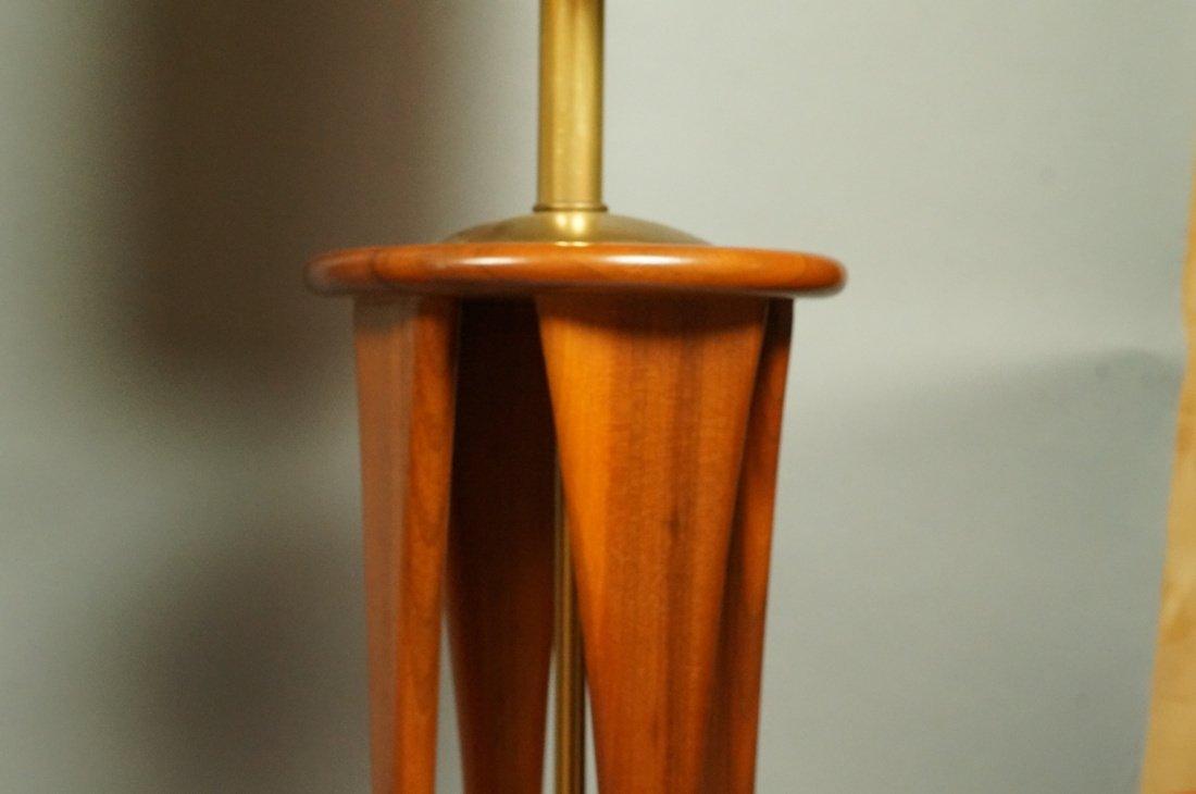 Lot Three American Walnut Table Lamps. Modernist - 9