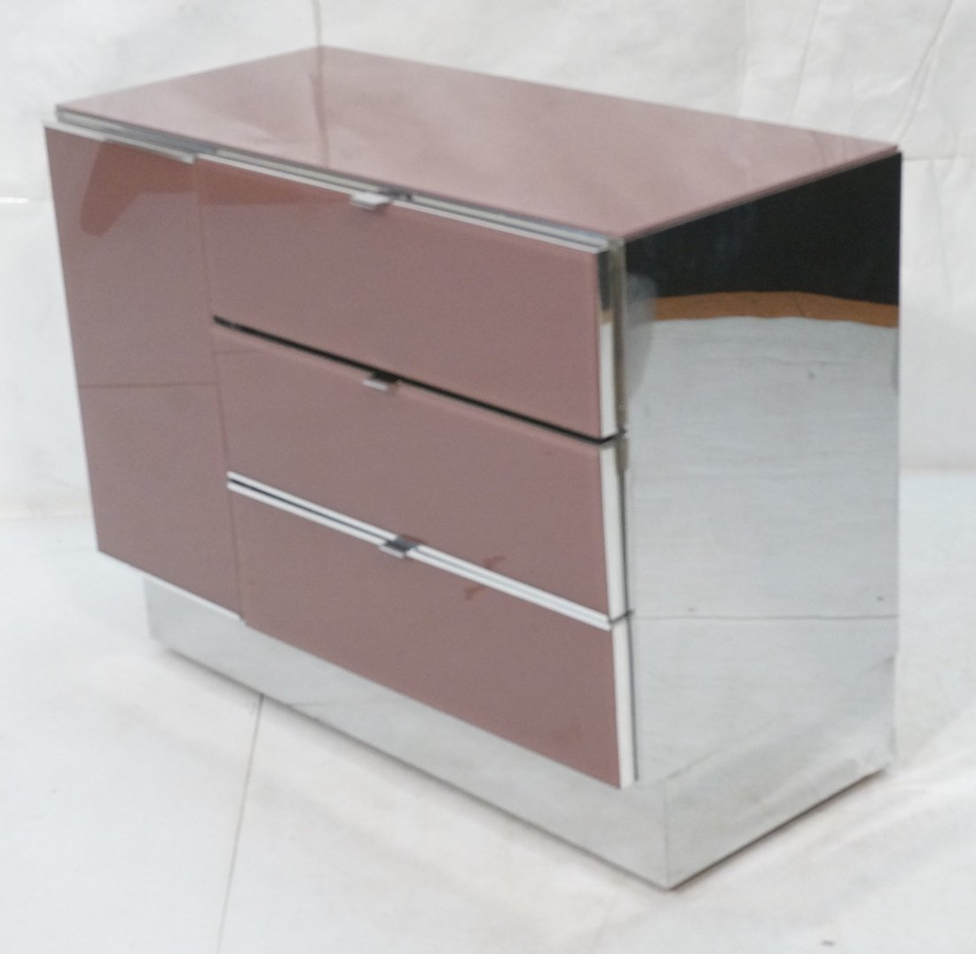 Plum Colored Plexiglass Chest Drawers Dresser. Ch