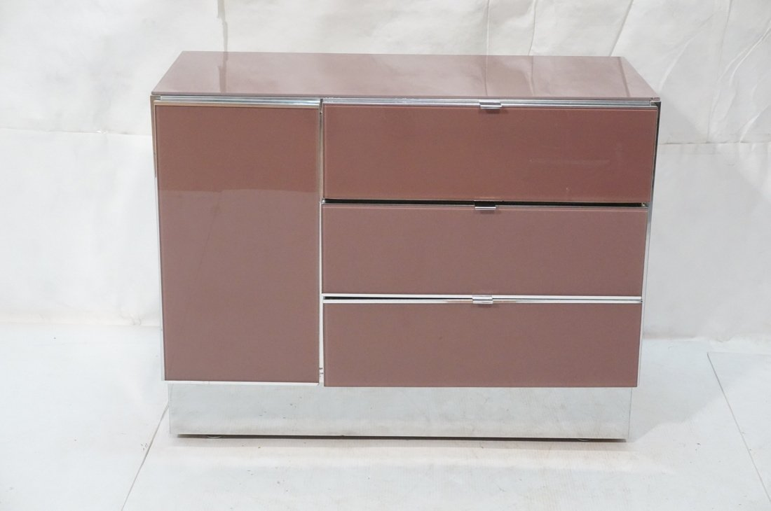 Plum Colored Plexiglass Chest Drawers Dresser. Ch - 2