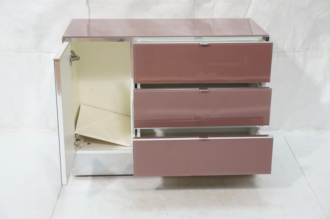 Plum Colored Plexiglass Chest Drawers Dresser. Ch - 3