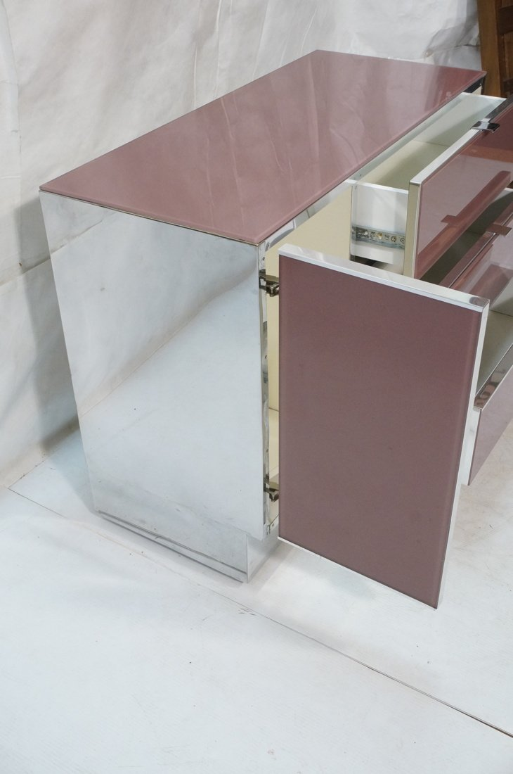 Plum Colored Plexiglass Chest Drawers Dresser. Ch - 4
