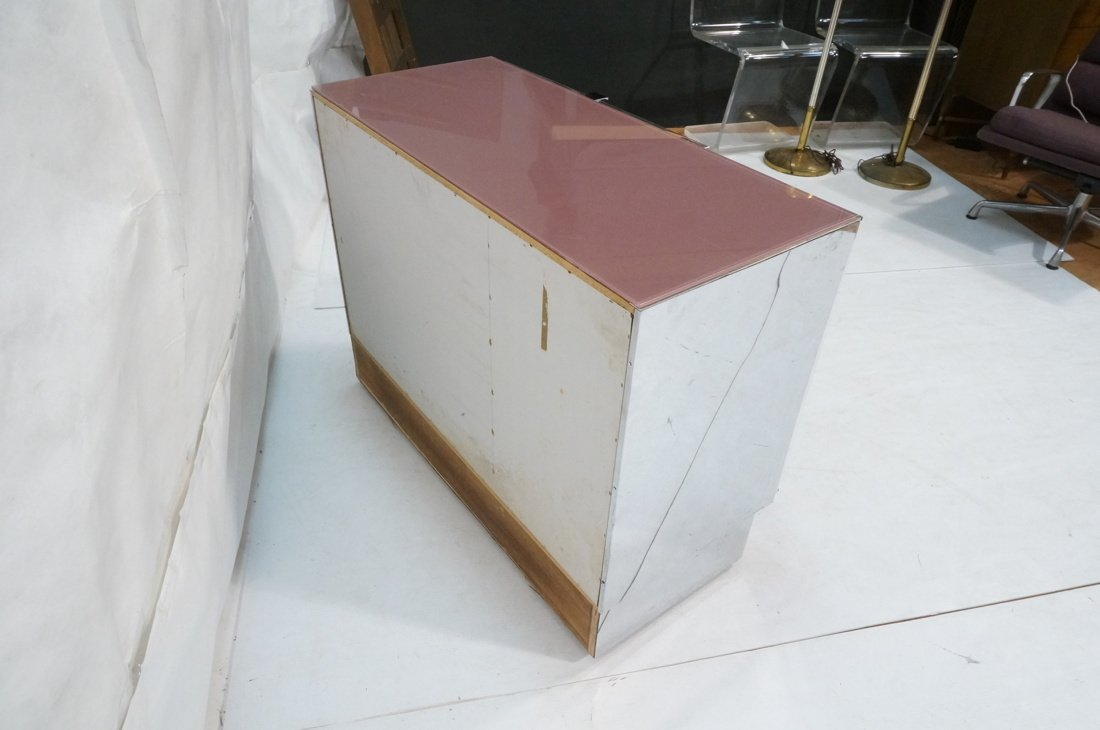 Plum Colored Plexiglass Chest Drawers Dresser. Ch - 7