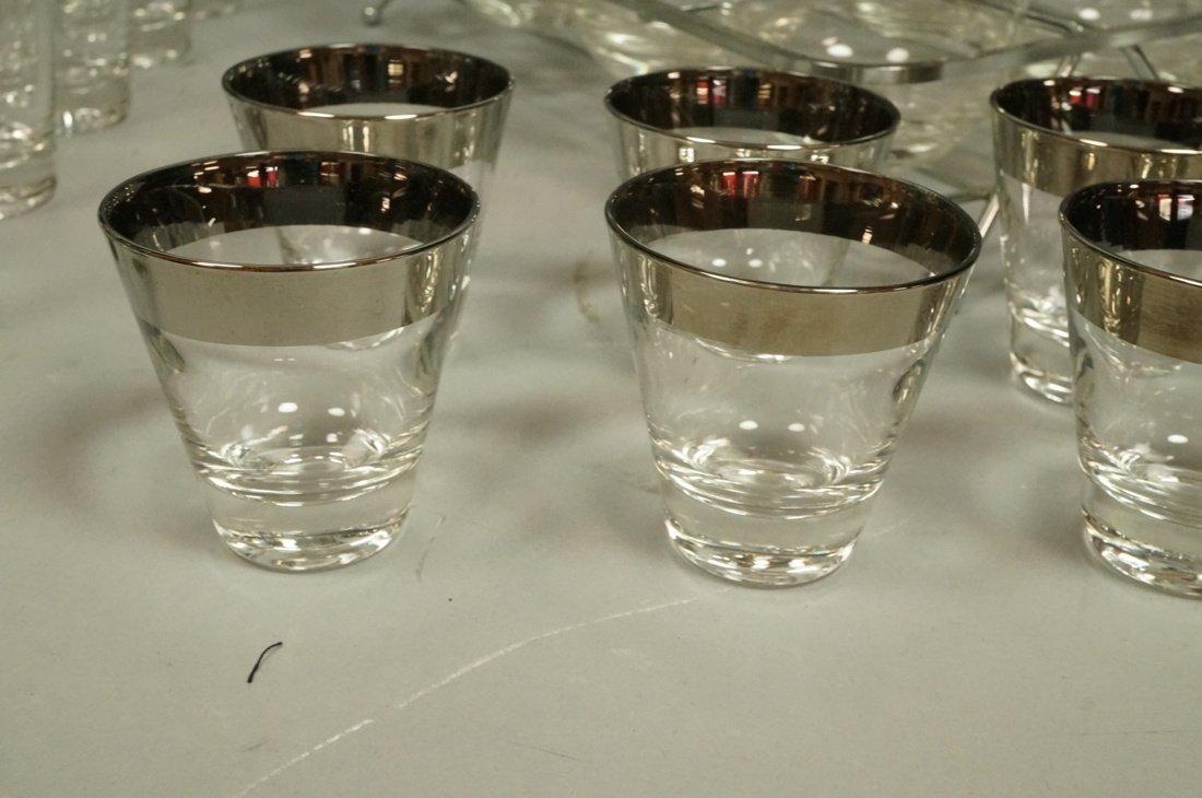 Lot 35 Dorothy Thorpe Silver Rim Clear Drinking G - 2