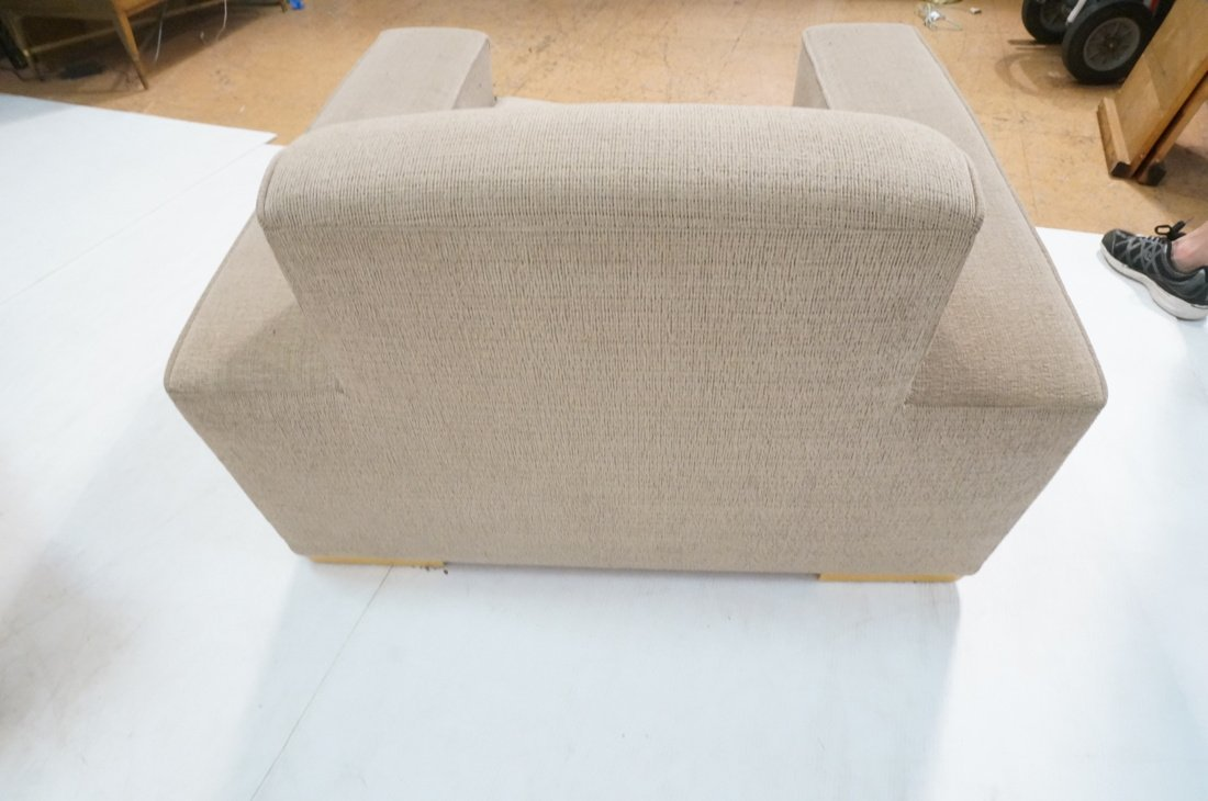 Pr Oversized Club Chairs. Modernist wide armed fo - 10