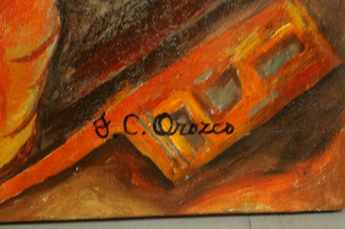 After J OROZCO Oil Painting. Winged Robots vanqui - 2