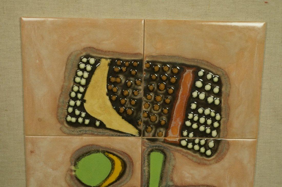 8 Ceramic Tile STONE HENGE. Eight glazed tiles wi - 2
