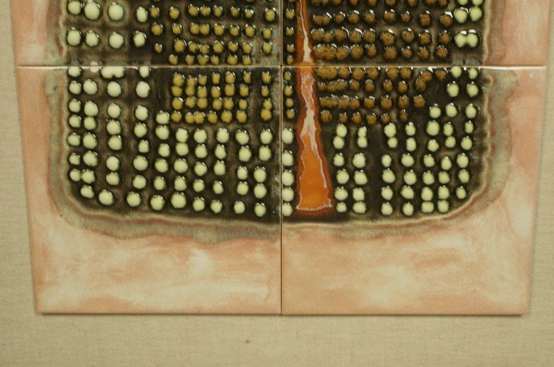 8 Ceramic Tile STONE HENGE. Eight glazed tiles wi - 4